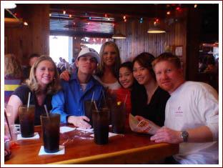 Sarah, Sam, Robin (our Hooters girl), Ching, Ashley and Wade