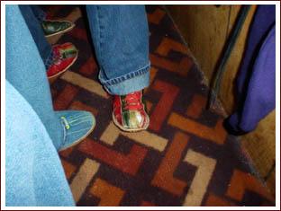 Ashley's holey bowling shoe